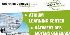 Travaux ATRIUM - Fermeture de l'entrée principale de l'Université Paul-Valéry Montpellier 3